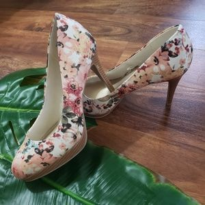 Christian Siriano Floral Heels